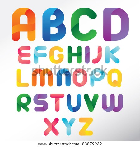Three Dimension Colorful Alphabet Set
