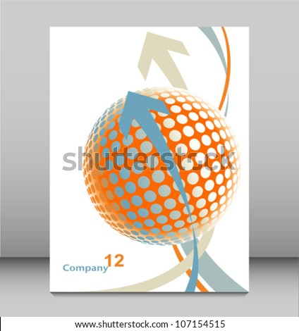 Three dimensional digital globe leaflet design.