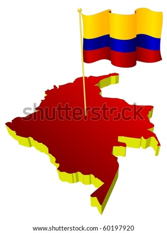 map of colombia. image map of Colombia with