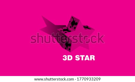 three dimensional star with a