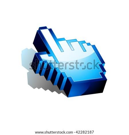 Three Dimensional Vector Hand Cursor