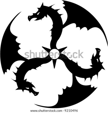 three dragons forming a circle