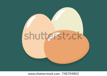 three eggs brown and white eggs