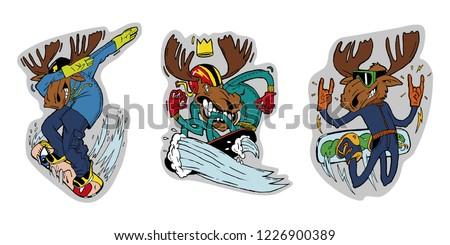 three elk lovers of winter