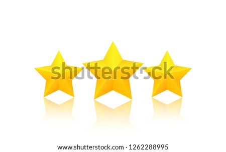 three fat golden stars with