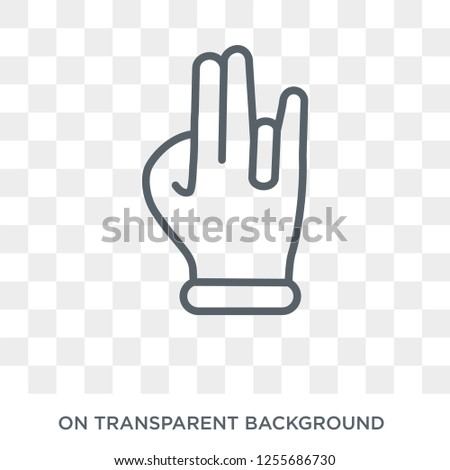 Three fingers command icon. Trendy flat vector Three fingers command icon on transparent background from Hands and guestures collection. High quality filled Three fingers command symbol use for web