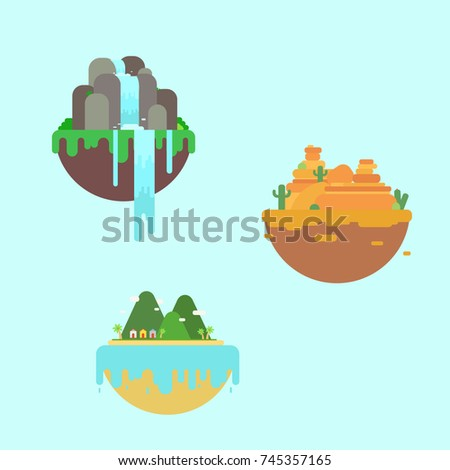 three floating islands