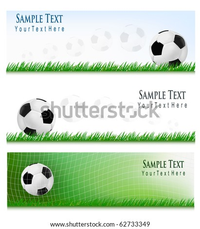 Three Football backgrounds. Vector.