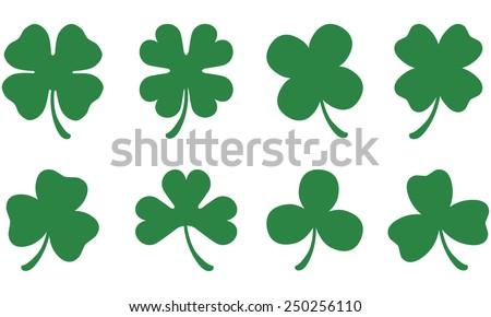 Three & Four Leaf Clovers Сток-фото ©