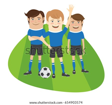 three funny football soccer