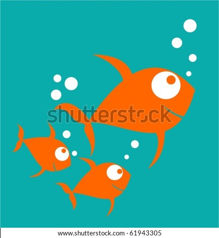 three funny little fish