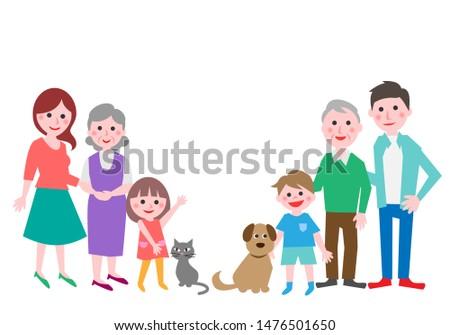 three generation family with