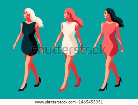 three girls   brunette  redhead