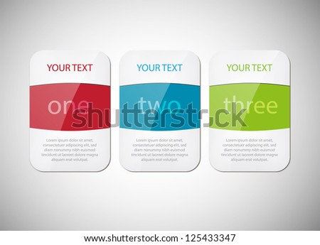 three glossy vector banners