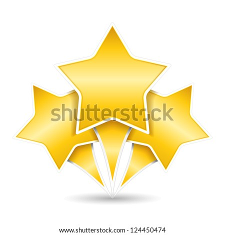 three golden stars  design