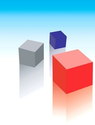 three graphical blocks