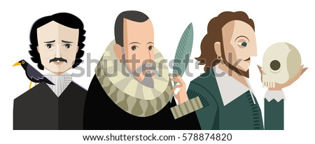 three great writers from all the times Stockfoto ©