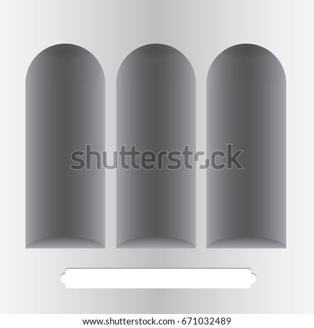 three grooves in the wall in