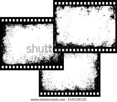 abstract grunge background with film strip - Download Free Vector ...
