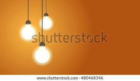 three hanging light bulbs