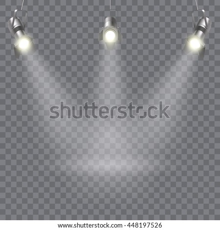 three hanging spotlights design