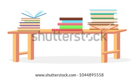 three heaps of literature with