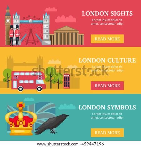 three horizontal london banner