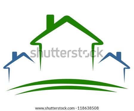 three houses - happy houses