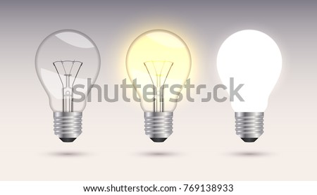 Three incandescent lamps.