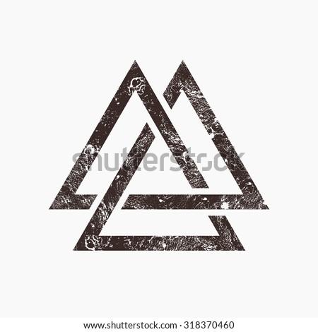 three interlocking triangles