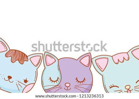 three kitty cats cartoon