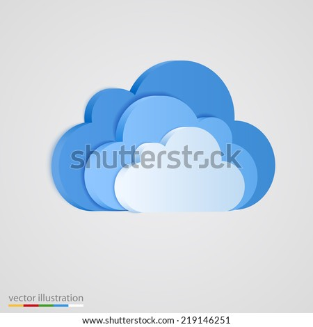 three layer of blue clouds