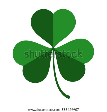 three leaf green clover leaf in