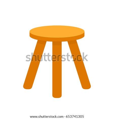three legged stool vector
