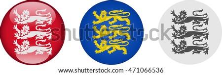 three lions set vector graphic