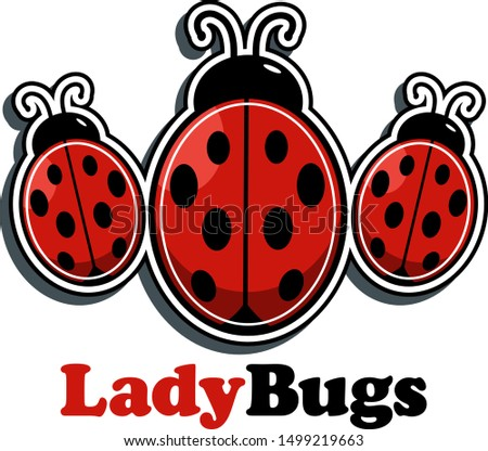 three little ladybugs design