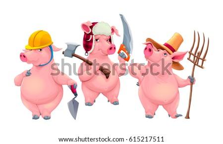 three little pigs cartoon
