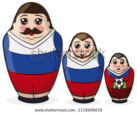 three male matryoshka dolls