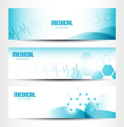 Three Medical Banners For Web Or Print