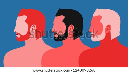 three men abstract male