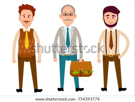 three men of different looks