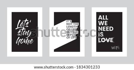 three minimalist posters