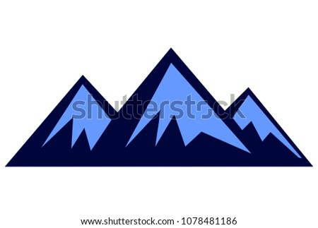 three mountain logo design