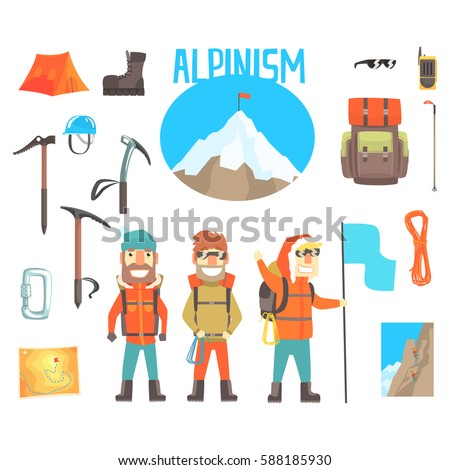 three mountaineers and