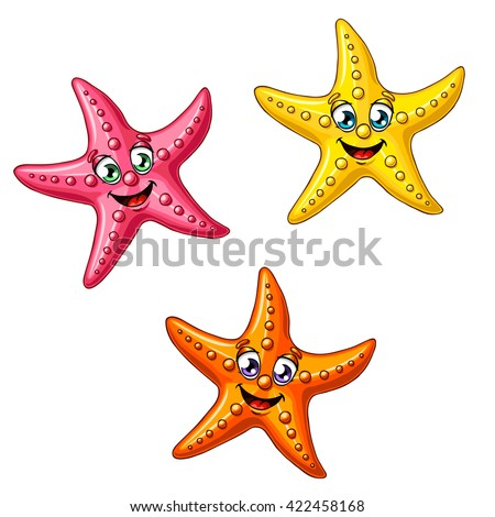three multi colored cheerful