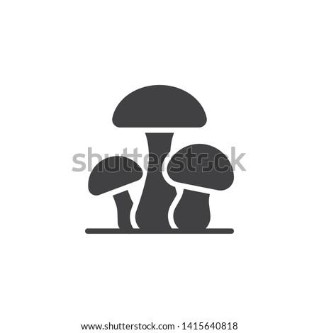 three mushrooms vector icon