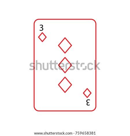 three of diamonds or tiles
