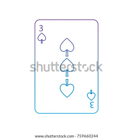 three of spades french playing