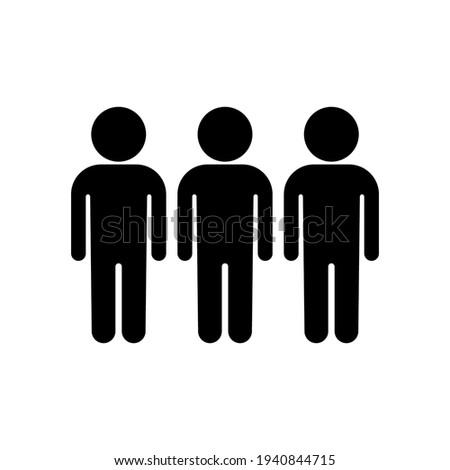 Three people icon vector illustration. Group, team symbol. Foto stock ©