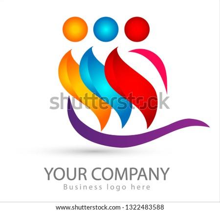 three people logo